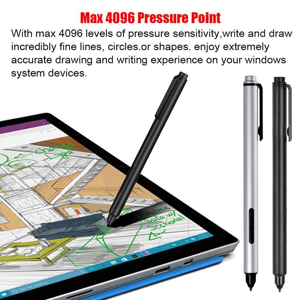 4096 Pressure Stylus Pen For Microsoft Surface Go Pro 5/ 4/ 3/ Book Wireless Solid Aluminium Stylus Electromagnetic Pen Stylus