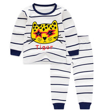 Осенне-весенние детские пижамные комплекты Одежда для маленьких девочек пижамы для мальчиков, пижамы для девочек, детская одежда для сна Детская футболка с длинными рукавами+ штаны