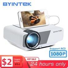 BYINTEK K1plus przenośny zestaw kina domowego Mini 1080P gra wideo projektor LED Beamer Proyector do smartfona 1080P 3D 4K kino