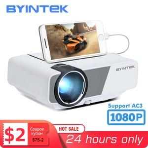 Image 1 - BYINTEK K1plus taşınabilir ev sineması Mini 1080P Video oyunu LED projektör Beamer Proyector için Smartphone 1080P 3D 4K sinema