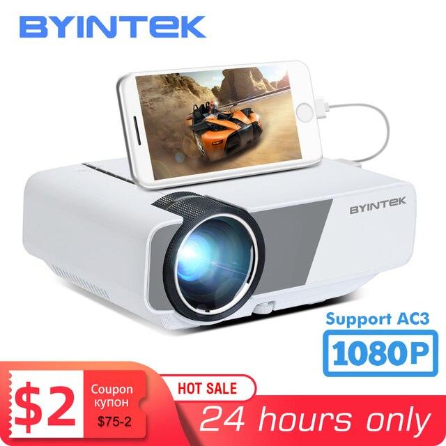 BYINTEK K1plus taşınabilir ev sineması Mini 1080P Video oyunu LED projektör Beamer Proyector için Smartphone 1080P 3D 4K sinema