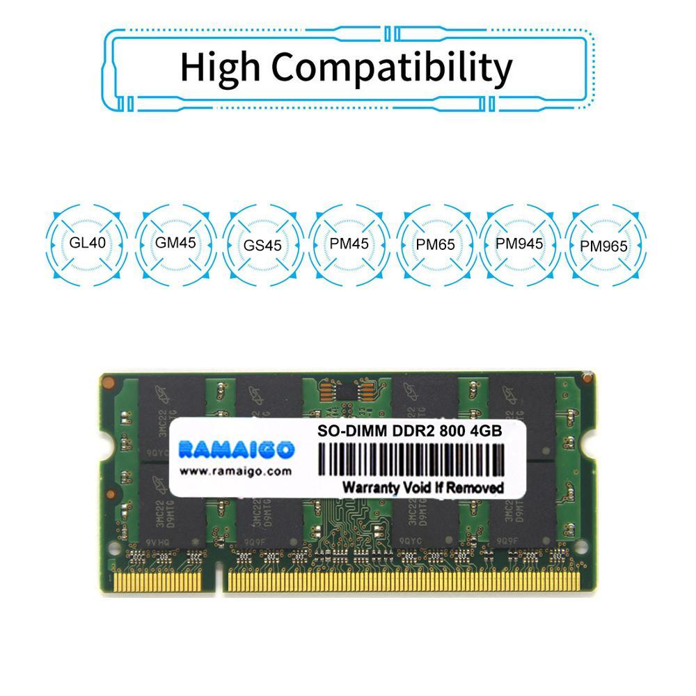 SODIMM 4GB DDR2 Laptop RAM Memory for ALL Intel AMD Laptop 1