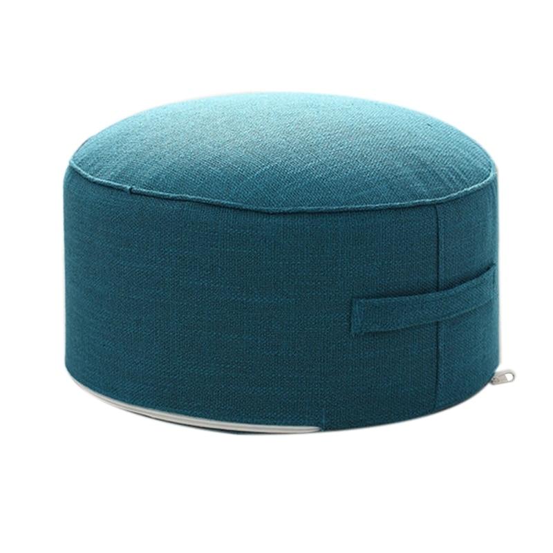 Дизайн, круглая высокопрочная губчатая подушка для сиденья, Подушка Татами, медитация, Йога, круглый коврик, подушки для стула - Цвет: Blue