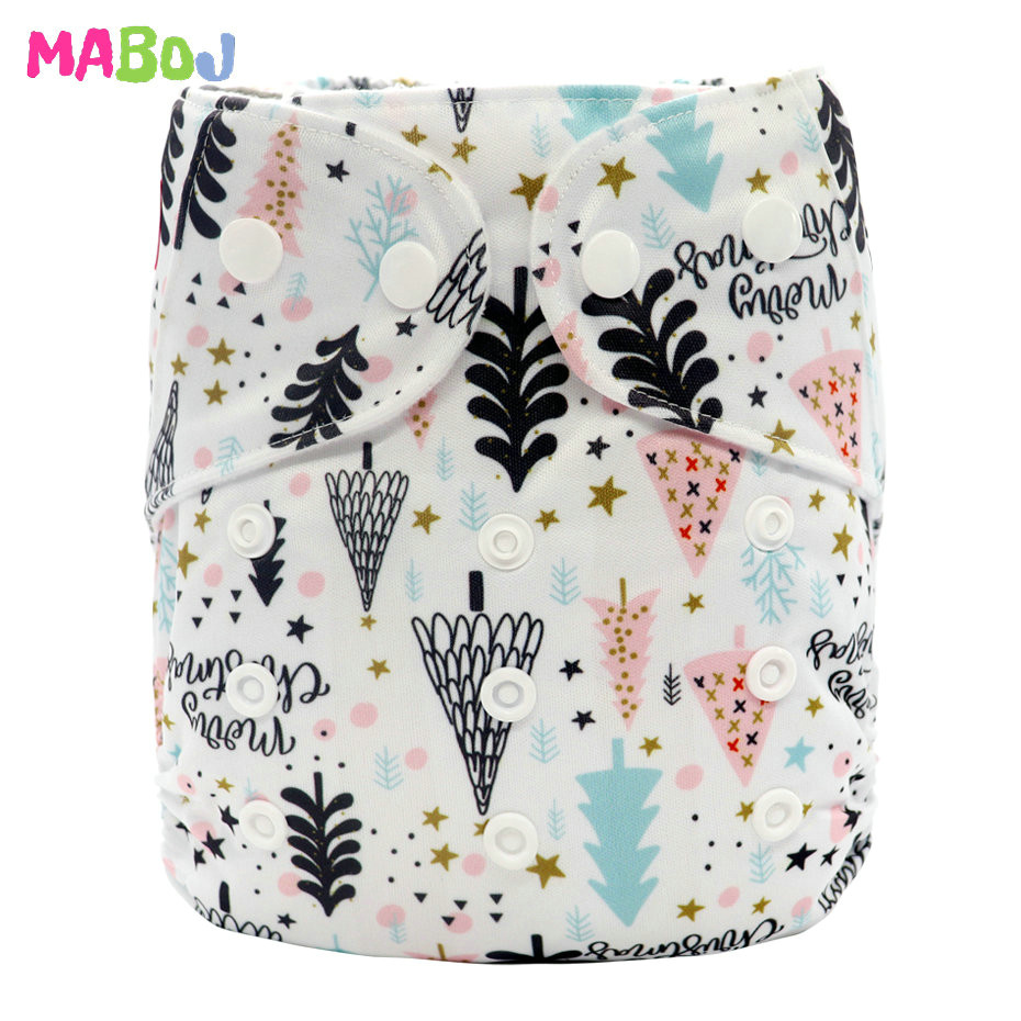 MABOJ Diaper Baby Pocket Diaper Washable Cloth Diapers Reusable Nappies Cover Newborn Waterproof Girl Boy Bebe Nappy Wholesale - Цвет: PD5-5-22
