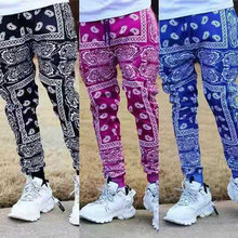 Men Hip Hop Personality Multicolor Pants Joggers Sweatpants Overalls Male Streetwear Harem Pants Women Fashions Trousers