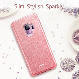 Image 2 - ESR Case for Samsung Galaxy S9 Cover Makeup Series Back Cover Shinning Protective Bling Glitter 3 Layer Case for Samsung S9 Plus
