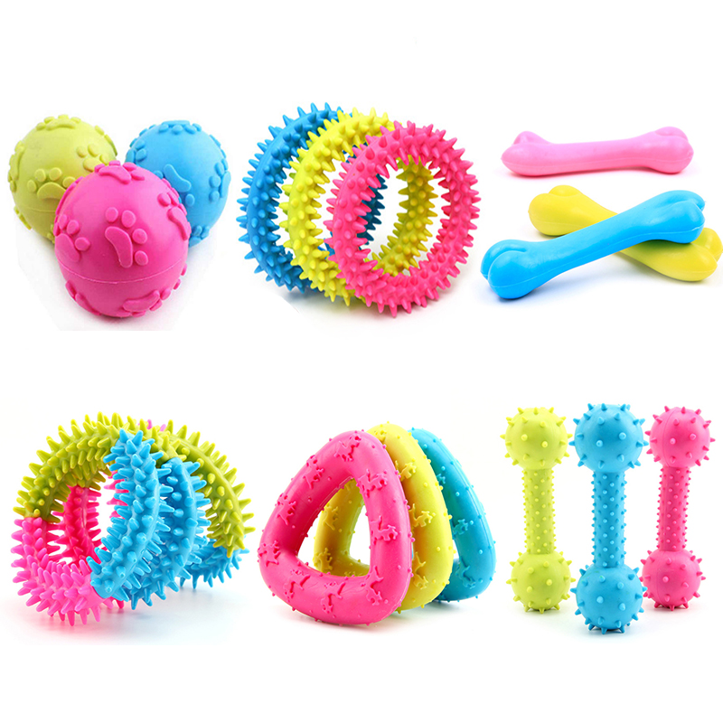 Training Pet Dog Toy Product Interactive Chew Toys for Small Dog Bite Rubber Resistant Puppy Pet Dog Toys Ball Pet Supplies