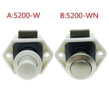 1PC Mini Push Lock Button Catch Lock Cupboard Door Knob Camper Caravan Motorhome RV Cabinet Drawer