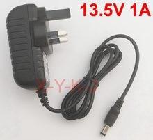 Adaptateur de convertisseur 13.5V 1A   1 pièce, 100V-240V cc 13.5V 1A 1000mA, prise britannique 5.5mm x 2.1-2.5mm, alimentation électrique