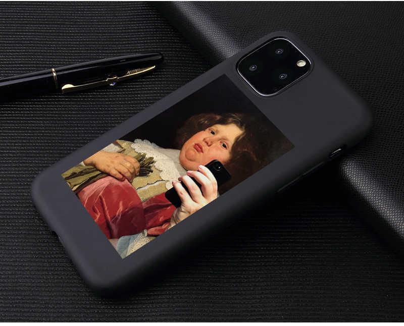 الحديثة الفن بسيط خط اليد روز فتاة الجسم لينة السيليكون حقيبة لهاتف أي فون 11Pro 6 6s X 7 8 زائد 5s SE XS ماكس XR الهاتف غطاء حالة