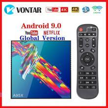 Vontar Youtube 4K Smart tv Box Android 9,0 4 Гб ОЗУ 64 Гб ПЗУ A95X R3 tv Box 2G/16G RK3318 медиаплеер USB3.0 Google Play Store