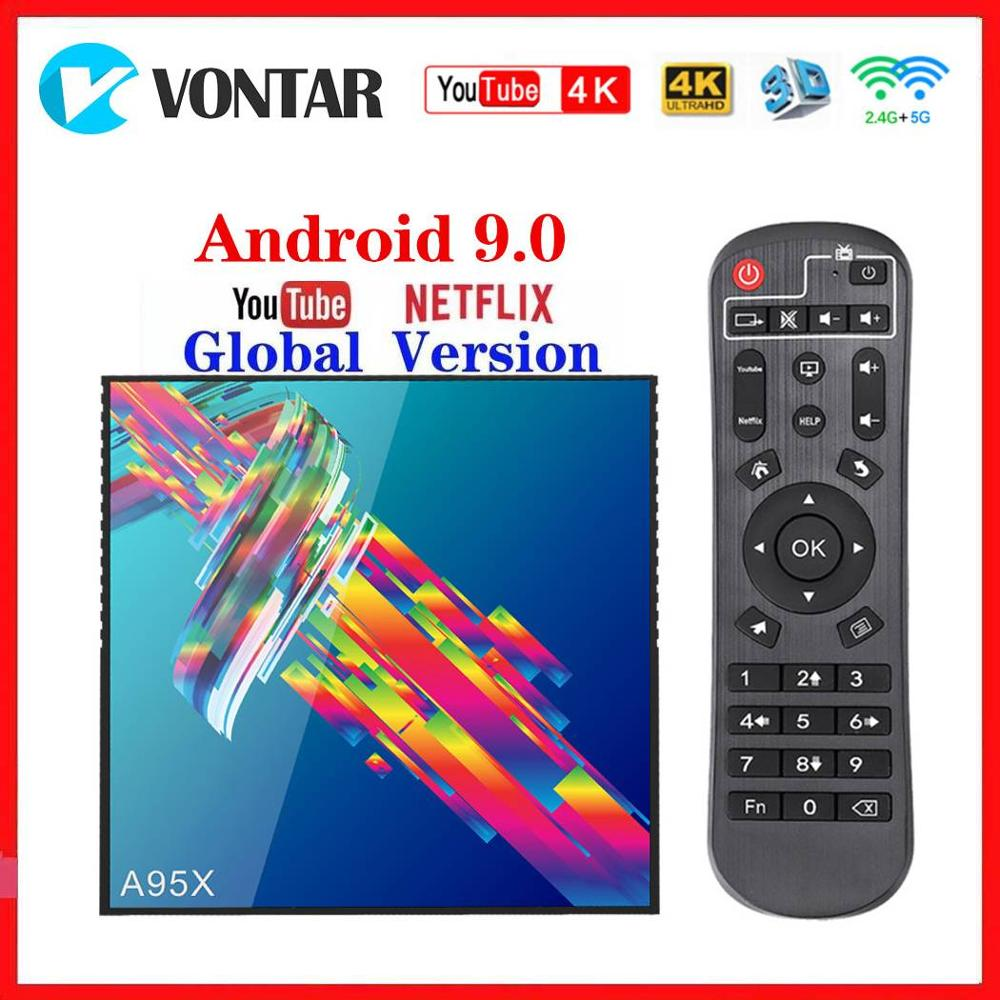 Vontar Youtube 4K Smart TV Box Android 9.0 4GB RAM 64GB ROM A95X R3 TV Box 2G/16G RK3318 Media Player USB3.0 Google Play Store