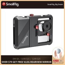 SmallRig Professionale Universale Del Telefono Mobile Gabbia Vlogging Gabbia Per Lo Smartphone Con 63.5 millimetri a 87.5 millimetri Gamma di 2494
