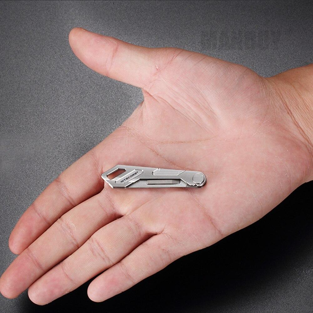 Free Shipping NITECORE NTK05 UltraTiny Titanium Keychain Knife Mini Multifunctional Folding Hunting Camping Fishing Outdoor 2020