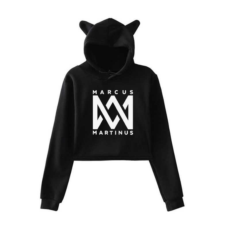Mode Marcus Martinus Vrouw Kat Oor Hoodies Tiener Meisjes Herfst Lange Mouw Hooded Lady Sweatshirts Lichtgevende Harajuku Tops