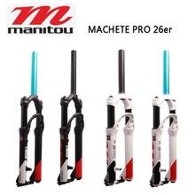دراجة هوائية Manitou MACHETE PRO 26er دراجة هوائية معلقة شوكة هوائية مستقيمة أسود أبيض أزرق ترقية من R7 PRO Machete pro 26er