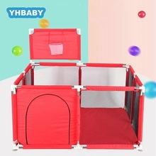 Baby Playpen Children Safety Barrier Pool Balls Foldable Kids Basketball And Football Field For 0-6 Years Old Children's Playpen
