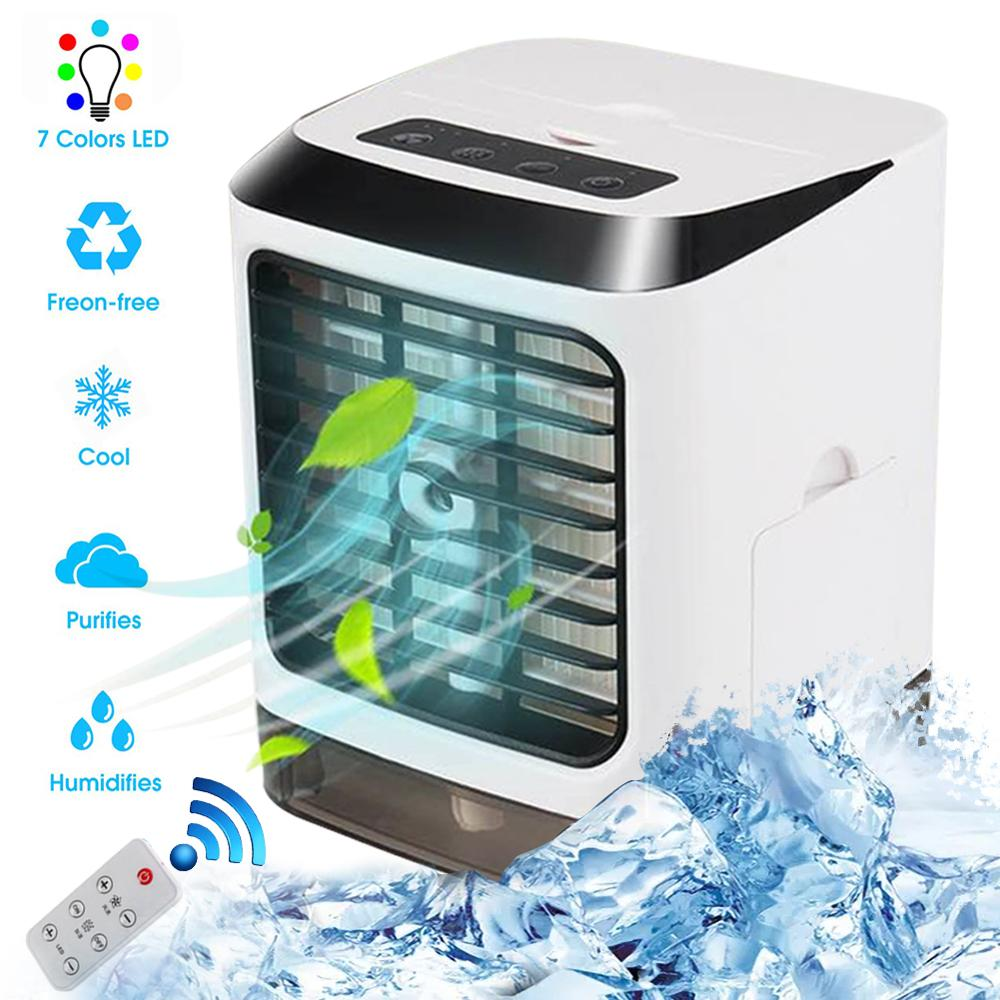 Rechargeable Portable Air Conditioner Conditioning USB Mini Air Cooler Hanlheld Air Cooling Fan For Office Home Car