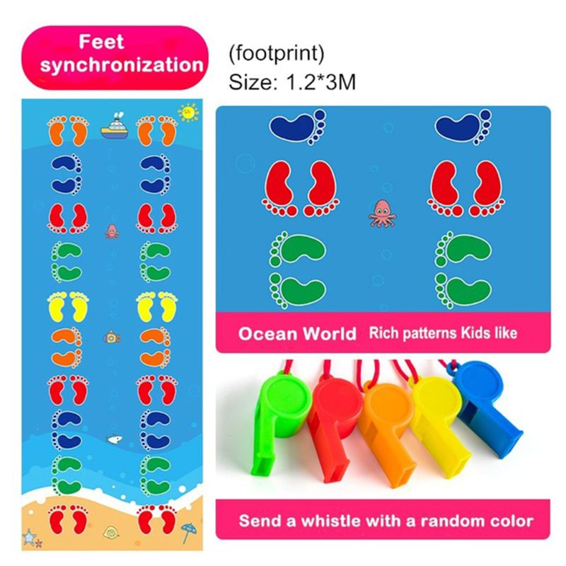 2020 New Kid's Jumping Carpet Baby Jump Lattice Kindergarten Team Game Pad Early Childhood Fun Toys Child Indoor Outdoor Sports