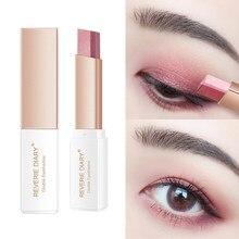 Fard à paupières bicolore, bâton d'ombre à paupières, dégradé naturel, imperméable, maquillage pour les yeux, longue durée, TSLM1