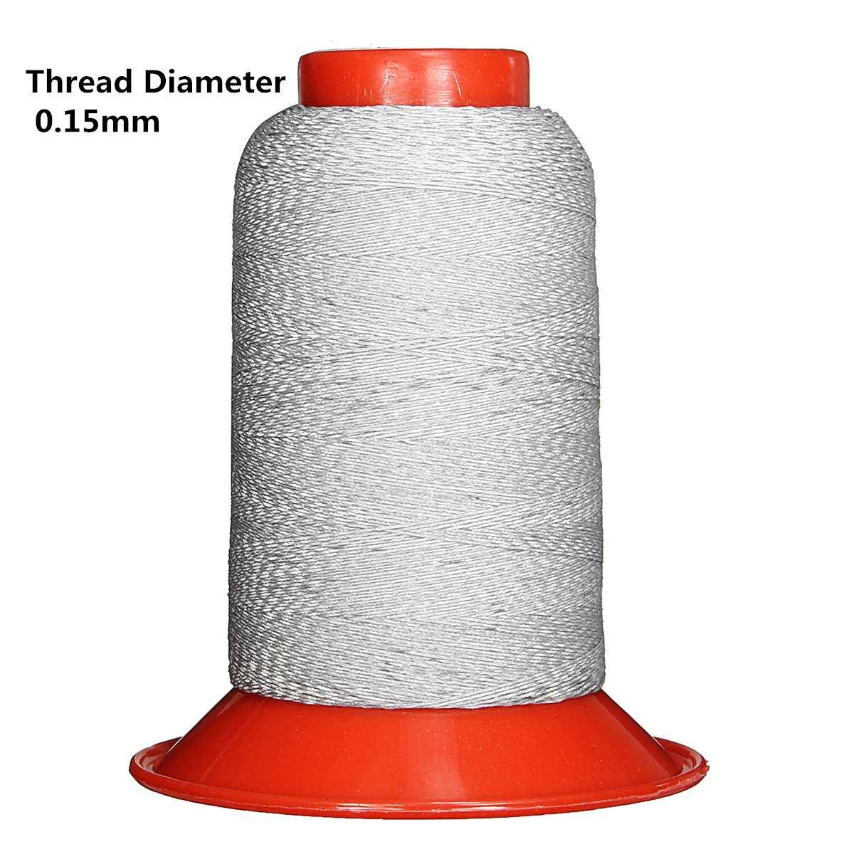 Нить для шитья из полиэстера светоотражающий 1000 м/рулон диаметром 0,5 мм/0,3/0,25/0,15 мм DIY Швейные для безопасной работы с химическими веществами Кепки Костюмы серебристо-серый - Цвет: Thread Dia 0.15mm
