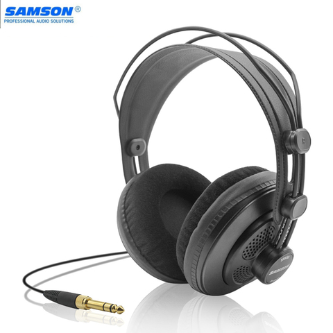 Fones de Ouvido Fone de Ouvido Design para Gravação de Monitoramento de Jogo de Música Samson Estúdio Referência Monitor Dinâmico Semi-aberto Jogando Sr850