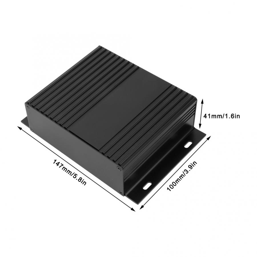 waterproof junction box 41x147x100mm Split Type Enclosure Electronic DIY Aluminum Cooling Case for Vehicle Controller Wiring Wire Junction Boxes     - title=