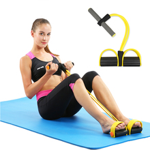 4 Elastic Pull Ropes Abdominal Exerciser Rower Belly Resistance Band Home Gym Sport Training Bands For Fitness Equipment