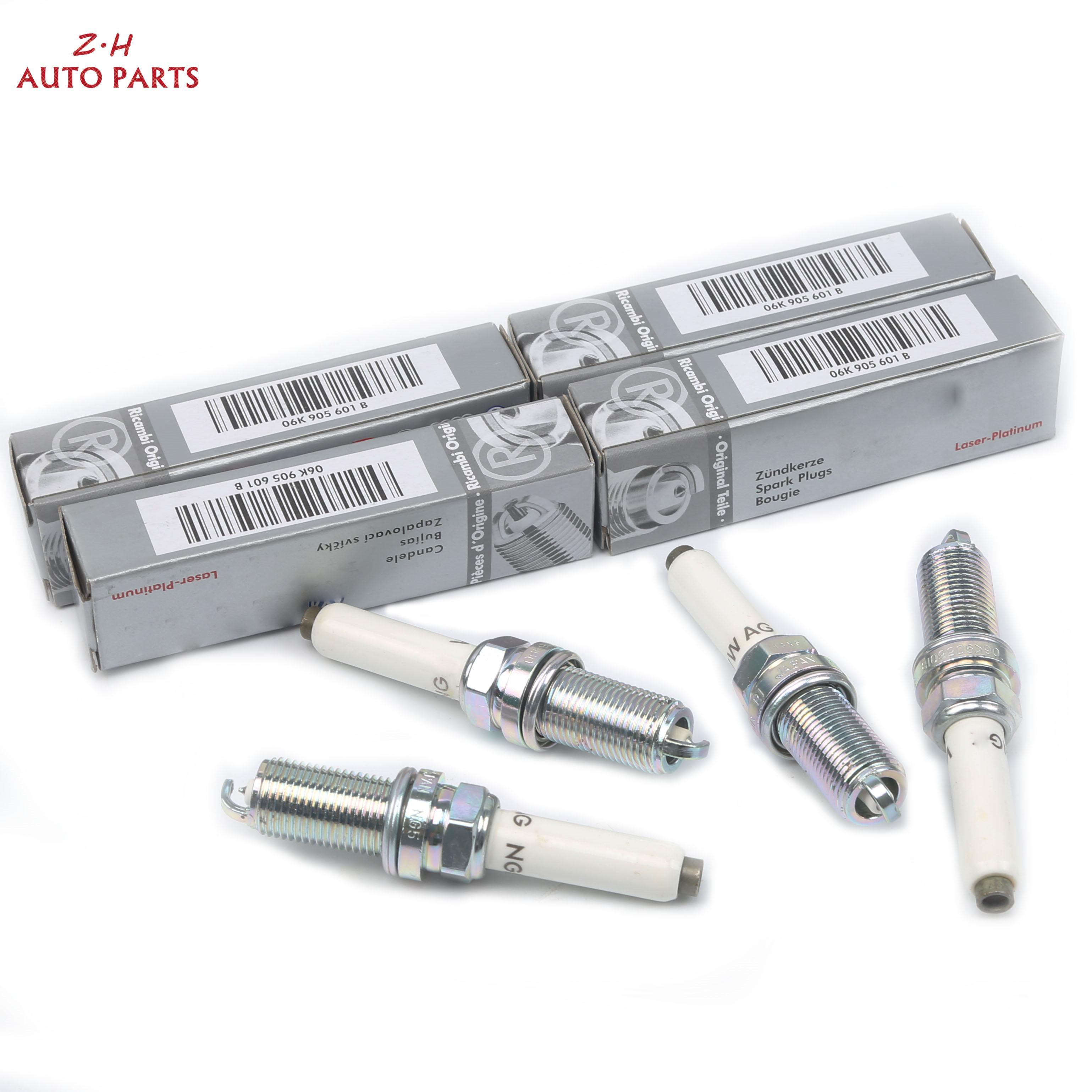 Купить новый набор лазерных платиновых свечей зажигания для audi a4