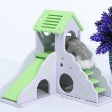 Hamster-Accessories Pet-Hideout Guinea-Pig Rats Small for Non-Toxic Double-Layer