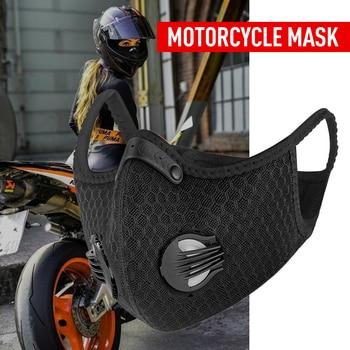 Cyclisme formation masque facial vélo Smog facemask PM2.5 filtre à air charbon actif respirant n95 équitation masque de pêche