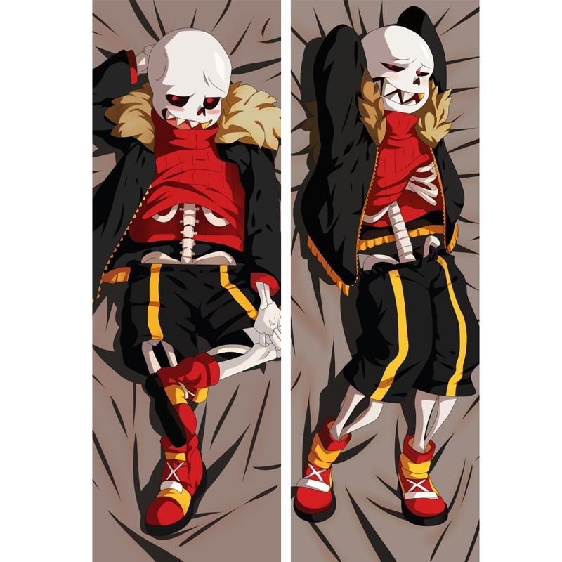 Jeu Undertale Sans Anime Dakimakura squelette garçon taie doreiller couverture literie Otaku Cosplay taie doreiller mâle BL cadeau