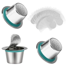 Coffee-Capsules-Sets for Nespresso Refillable Pods Stainless-Steel 3pcs
