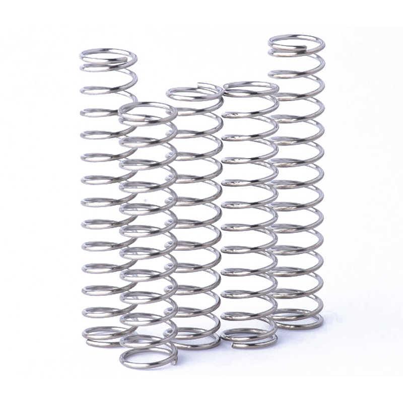 Coolxyz mola de aço inoxidável a mola de pressão de retorno mola de compressão diâmetro do fio 2.0mm 15mm em estoque