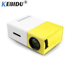Kebidu YG-300 J9 портативный мини-проектор 1080P с поддержкой 1080P мини домашний проектор AV USB SD карта USB портативный карманный проектор