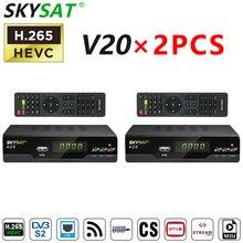 SKYSAT V20 Receptor M3u Tv-Box Support HEVC H.265 Dvb S2 De 2PCS Dongle Powervu 3G