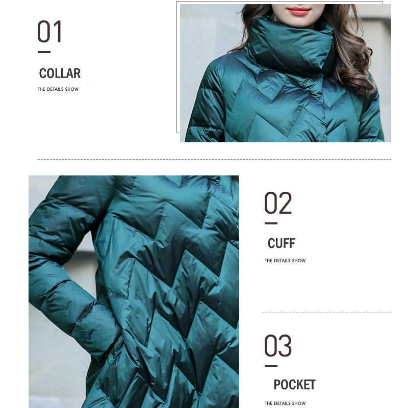 女性のダウンジャケットロング 2019 新冬のフグのコート女性非対称高品質厚く暖かいパーカーの女性のプラスサイズ上着