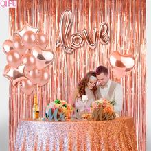 QIFU Wedding Balloons Party Decoration Happy Birthday Balloon Love Ballons Latex Confetti Accessories