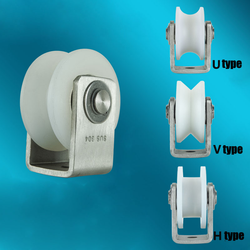 Sliding Nylon Rollers 304 Stainless Steel Bearings Sliding Gate Hardware