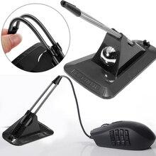 Зажимы для галстуков черный портативный мышь банджи зажим фиксатора кабель мышь Органайзер держатель шнур школьные офисные принадлежности