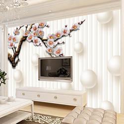 Гостиная 3D ТВ фон Настенное панно для телевизора жемчужные тени обои бесшовная настенная ткань Европейский стиль обои живопись