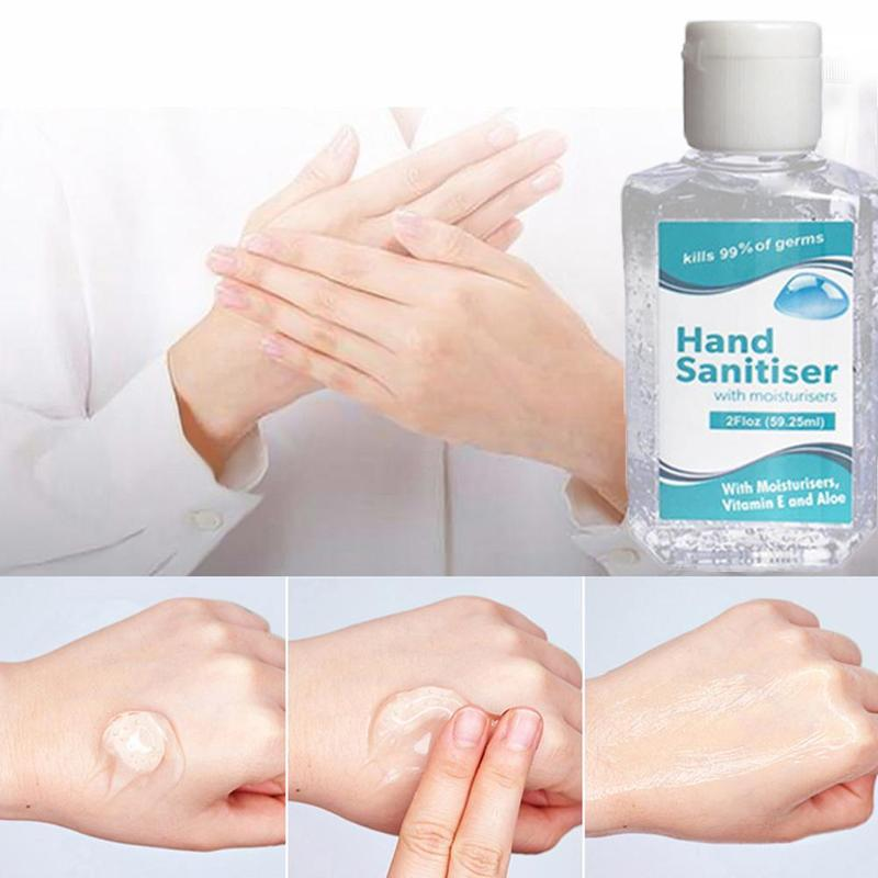 60ml Mini Hand Sanitizer Hand Cleaner Gel Anti-Bacteria Moisturizing Disposable Waterless Household Cleaning Supplies
