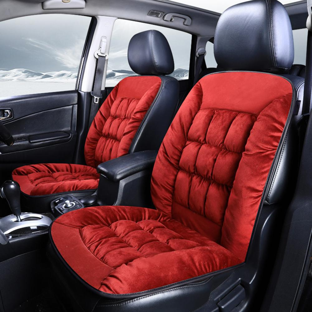 Autumn Winter Universal Plush Car Front Seat Cover Cushion Auto Soft Pad Mat 2019
