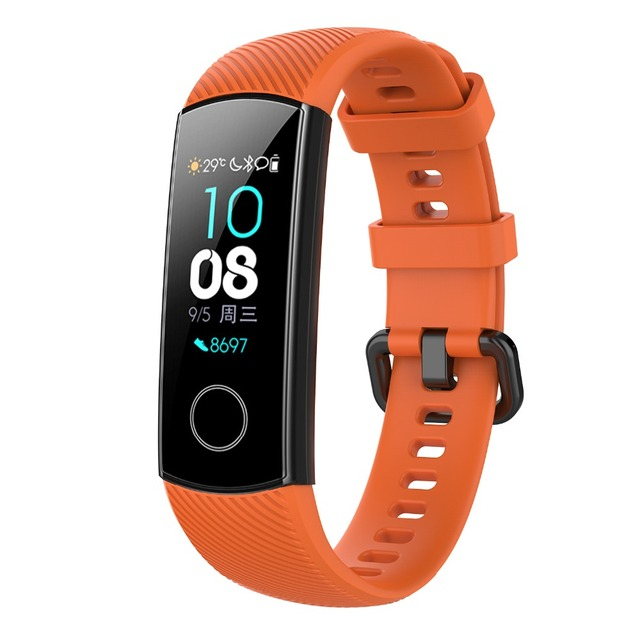 FIFATA Silicone Watch Strap For Honor Band 4 5 Wristbands Accessories Replacement Sport Strap For Huawei Honor Band 5 4 Bracelet 3