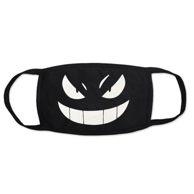 Cartoon mask on the mouth For dust and warmth anime mask Anti-fog mouth face mask dust masks Double cotton fabric facial mask 5