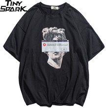 2020 היפ הופ מצחיק T חולצה מיכלאנג לו פסל דוד Streetwear חולצה גברים קיץ כותנה Harajuku Tshirt קצר שרוול חולצות Tees