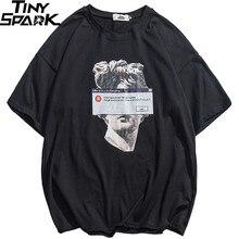 2020 ヒップホップおかしいtシャツミケランジェロ像デビッドストリートtシャツ男性の夏の綿原宿tシャツ半袖トップス