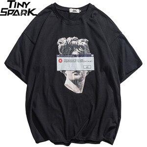 Image 1 - Camiseta divertida de estilo Hip Hop para hombre, ropa de calle con estatua de David de Michelangelo, Camiseta de algodón Harajuku, camisetas de manga corta 2020
