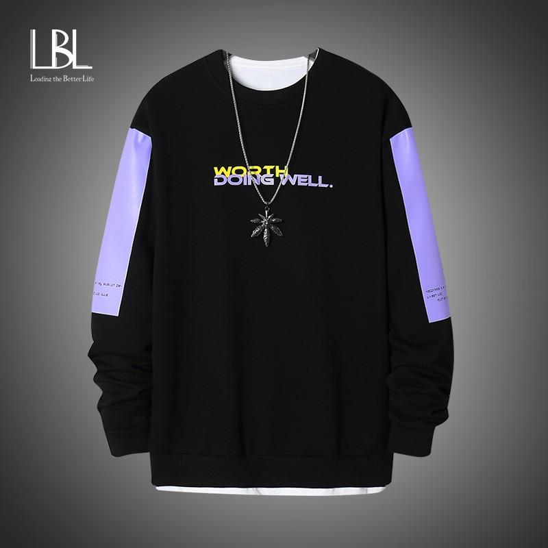 Fashion Brand Men Hoodies 2020 Spring Autumn Hip Hop Loose Casual Men's Sweatshirts punk Streetwear Pullover Clothes moletom