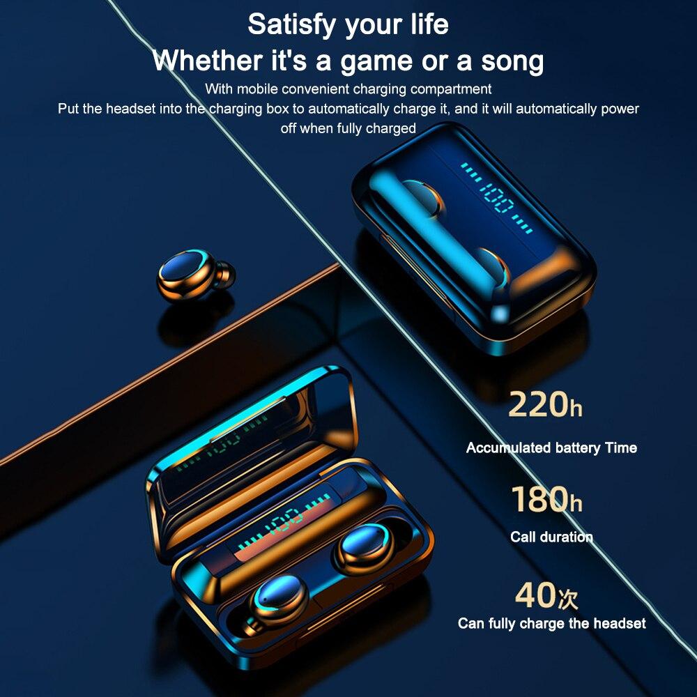 F9-5 TWS Écouteurs Bluetooth Sans Fil 5.0 écran LED étanche Airbuds 1